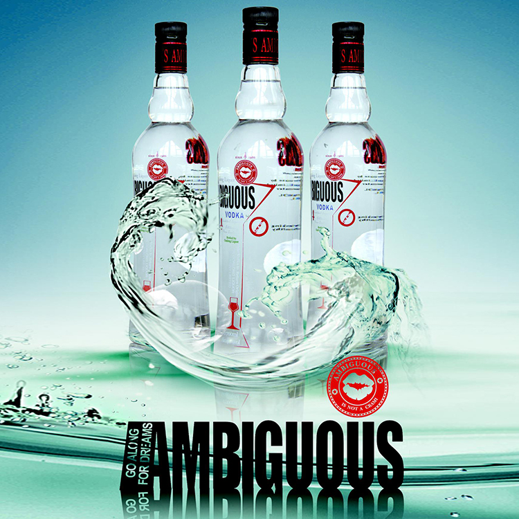 Top sales popular vodka spirits manufacturer with ISO FDA QS
