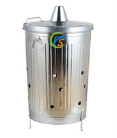 75L/90L/100L galvanized steel gardening incinerator for sale