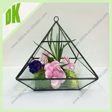 Home decor universe handicraft small terrarium, Glass manufacture custom any shape transparent & tiny geometric glass terrarium