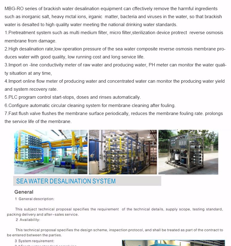 Professional Domestic and Industrial ro seawater desalination plant/UF water desalination machines/salt water to drinking water