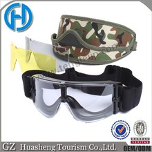 Black Frame Ttransparency Clear Lens Tactical Airsoft Safety Goggles