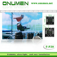 New Technology ourdoor P20 rental led signs flexible led curtain display/screen with lightweight
