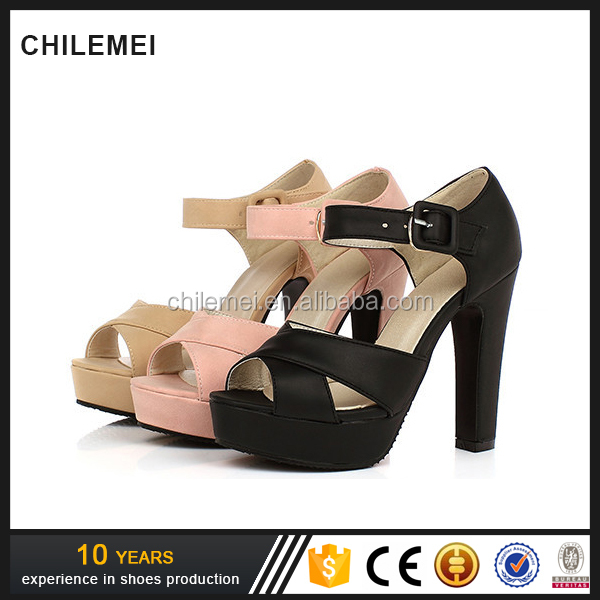 New Summer Women Shoes Thick Heels High Heels Female Sandals