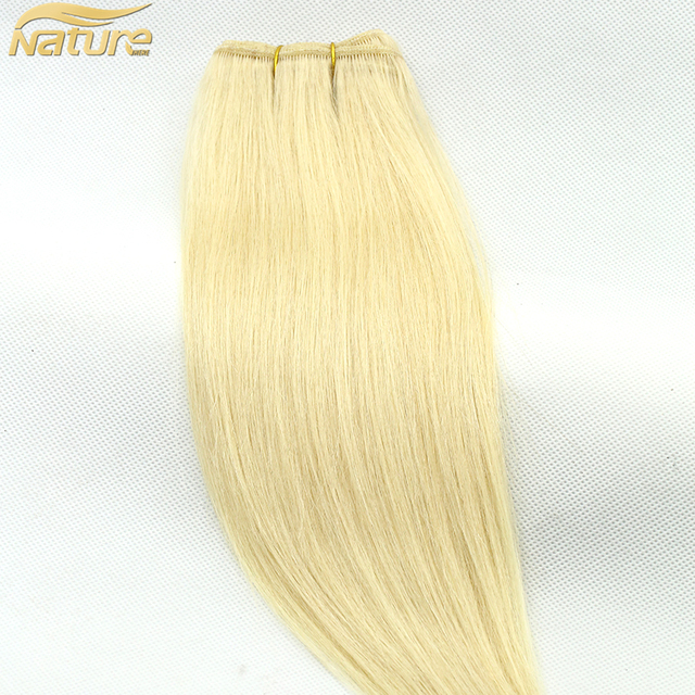 Silky Straight 613 Blonde Human Hair Weave made of Brazilian Peruvian Malaysian and other racial human hair