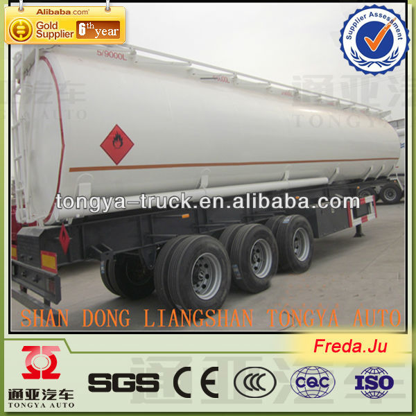 china widely used 50000 liters fuel tank semi trailer