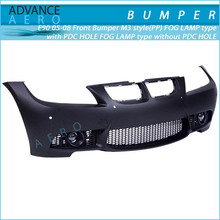 FOR 2005-2008 BMW E90 M3 PP POLYPROPYLENE FRONT END BUMPER CONVERSION FOG LIGHT HOLE PDC