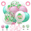 Set 20:5 flamingo+5PC pink+5PC green +5confetti+2ribbon