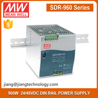 960W Power Supply 24V 40A SDR-960-24 Meanwell Din Rail Power Supply Manufacturers With PFC Function