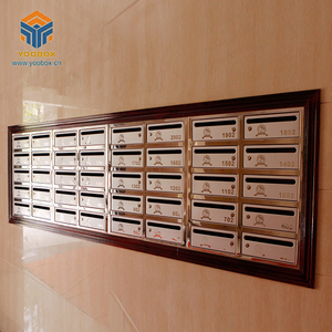 Regular Combined Stainless Steel Secure Apartment Mailbox For Community Building