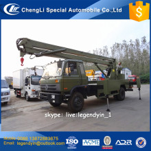 Import main parts China best quality 20m meters bucket lifting aerial work platform truck for hot sale