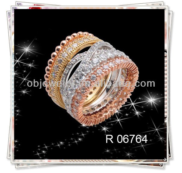 Latest gold filled ring designs cz brass ring