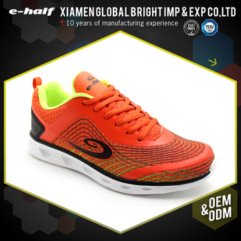 hottest orange mesh lace up breathable shoes sport women sneakers running