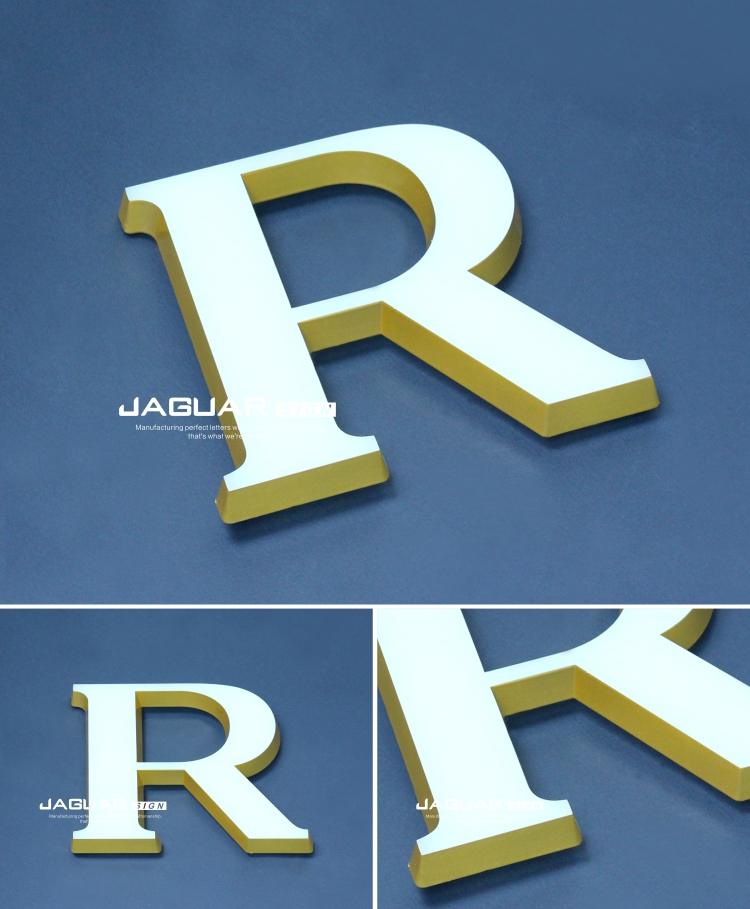 Business proposal custom laser cutting acrylic led front lit letters