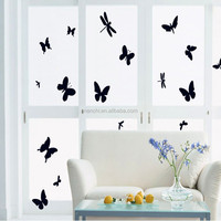 Black Butterfly PVC Removable Wall Sticker Decorate Window Glass Home Decoration DIY Art Vinyl Decals