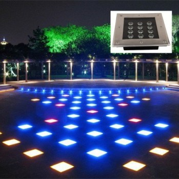 12w IP65 tempered glass and die cast aluminum LED underground light