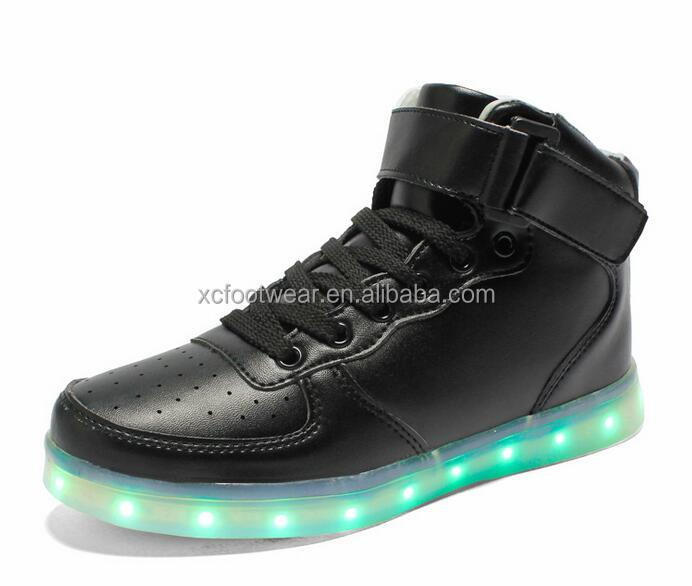 SML002 men and women couple style high-cut colorful LED skate sport <strong>shoes</strong>