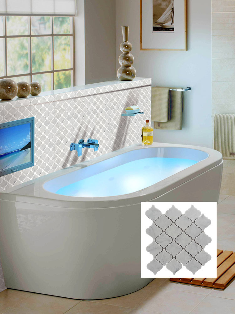 carrara white mosaic tile