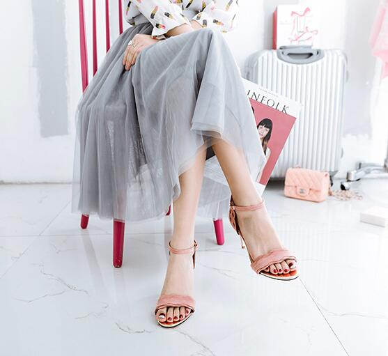 2017 summer newest high heel sandals shoes women
