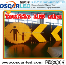 High definition super waterproof p10 single yellow color outdoor led display led programming traffic road arrow sign display