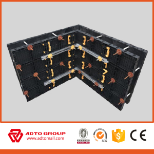 Column and slab in construction and building plastic modular formwork system for concrete