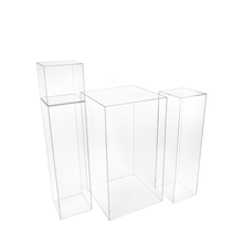 Clear Acrylic Pedestal Display Case