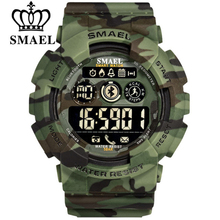 SMAEL 8013 <strong>Smart</strong> Bluetooth <strong>Watch</strong> Men Pedometer Stopwatch Military Digital <strong>Watches</strong> Army Camouflage LED Sport Wrist <strong>Watch</strong>
