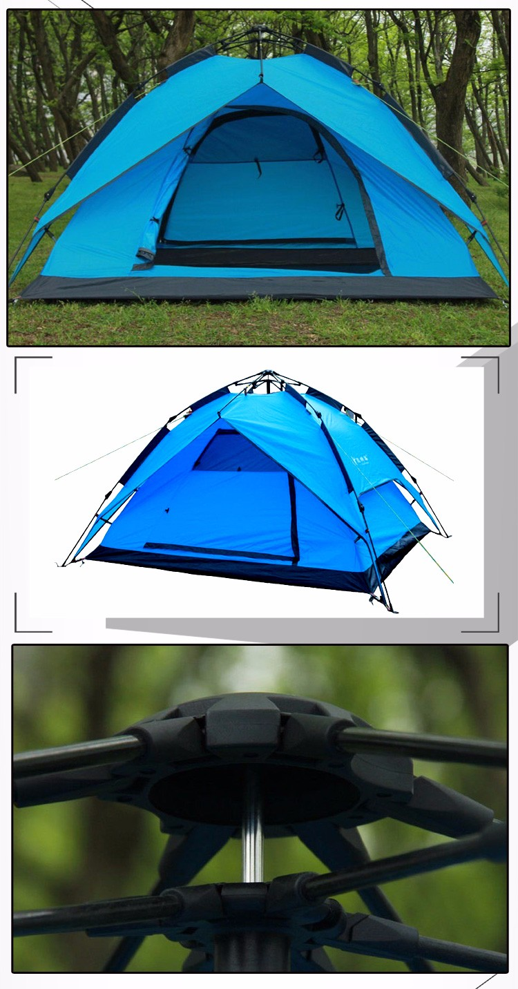 Cheap Price Pop Up One Touch Open Waterproof Family Camping Tent