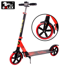 2017 hot sell 200mm big wheels folding adult kick scooters