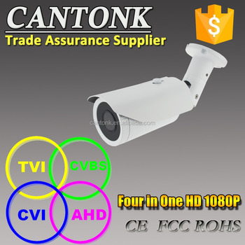 AHD camera 1080P cctv camera with OSD menu UTC TVI AHD CVI 4 in 1 Auto Focus Security Bullet Camera Varifocal Lens