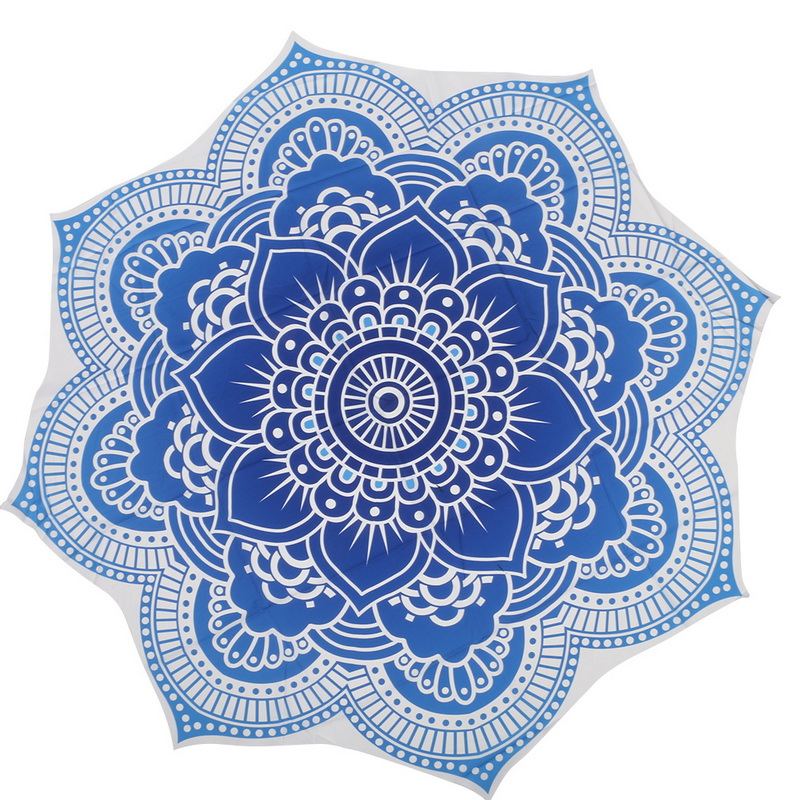 Indian Mandala Tapestry Flower Bohemian Hike Picnic Blanket Yoga Mat Beach Towel