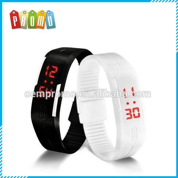 Promotional Silicone Digital LED Sport Watch / Wristwatch