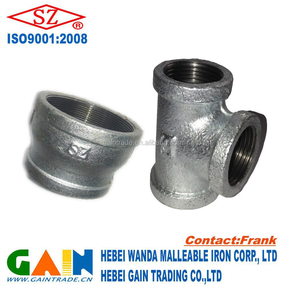 hot dipped galvanized iron tee and reducter