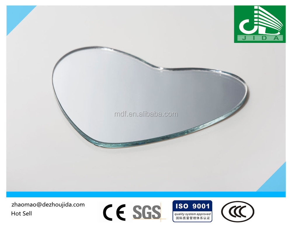 2-6mm Heart Shape Mirror Glass,Aluminium mirror,Silver mirror with CE & ISO9001