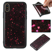 Colorful Printing 3D TPU black star Mobile Phone Case Cell Phone Case For iPhone X