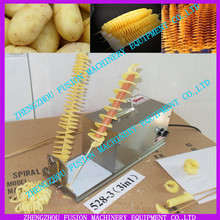 Spiral potato chips twister slicer cutter tornado twist machine for batata