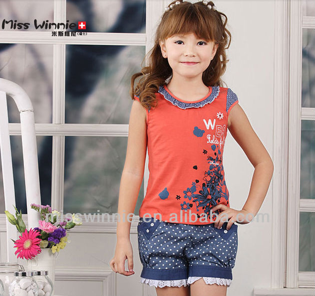 new designed children's T-shirts, 100% cotton for baby girls clothing, summer sleeveless baby clothes