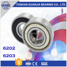 Electric Motor Bearing 6203 ZZ Miniature Deep Groove Ball Bearing for Ceiling Fan Bearing 6203 2RS Motorcycle Bearing