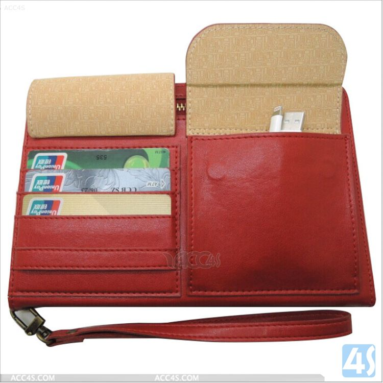 Factory price zipper wallet Leather case for Ipad mini 1 2 3