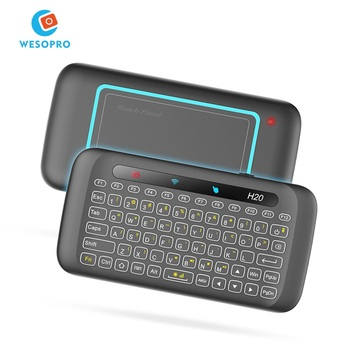 Wireless Mini Keyboard with Touchpad Backlight and Mouse Combo with IR Learning for Raspberry Pi HTPC Android TV Smart TV PC PS4