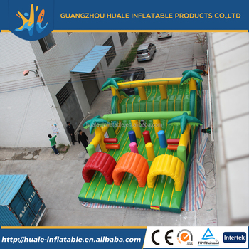 Inflatable obstacle course slide inflatable slide inflatable sport games for kids