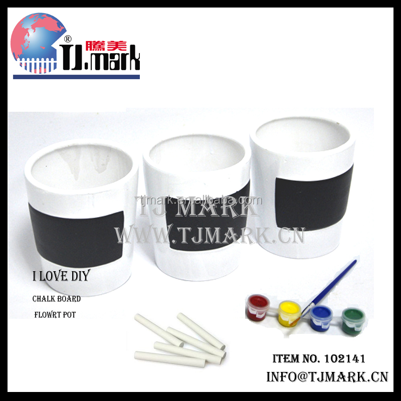white paintable small ceramic plant pots