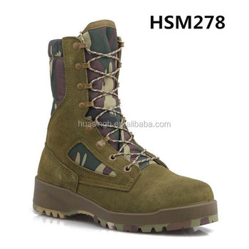 high performance sage green camouflage style military hunting boots waterproof