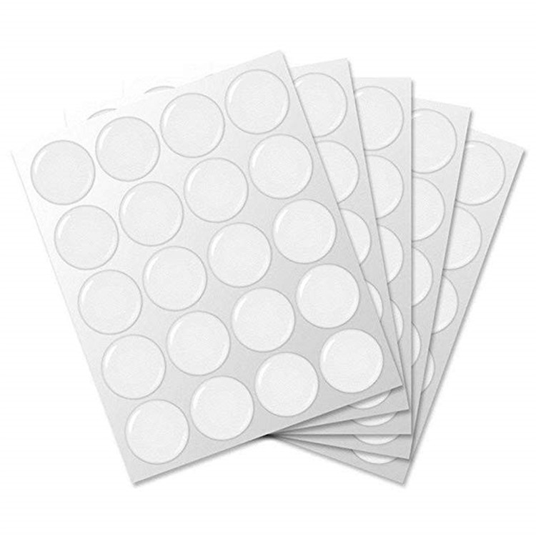 Round custom plastic 3d dome epoxy stickers