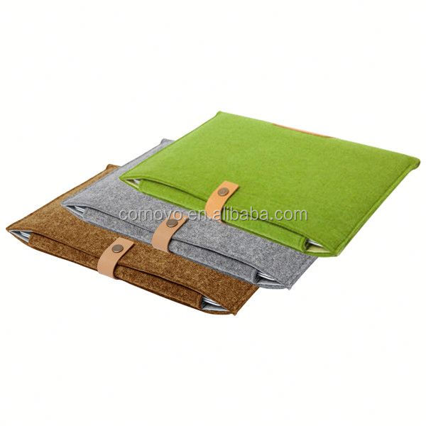 15 inch polyester Felt Laptop Sleeve
