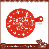 Food grade plastic cake stencil of decoration