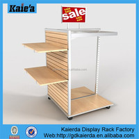 slatwall shoe display,wood freestanding slatwall display,slatwall unit display