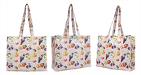 Hot sale new design cotton pvc printing waterproof reusable folding shopping bag