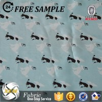 100% polyester silk faille fabric for dress/dot printed fabric
