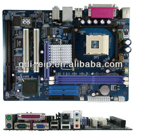 Industrial Socket 478 Motherboard With 2*PCI,1*ISA,1*AGP 4/8X