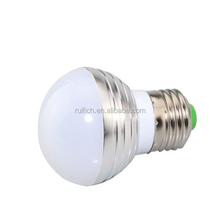 NEW 3W RGB LED Light E27 16 Colors LED RGB Bulb Lamp Spotlight 110V 220V Lampe + IR Remote Control High Quality RGB Lampada